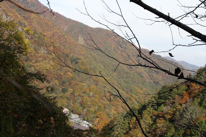 女夫渕温泉付近の紅葉