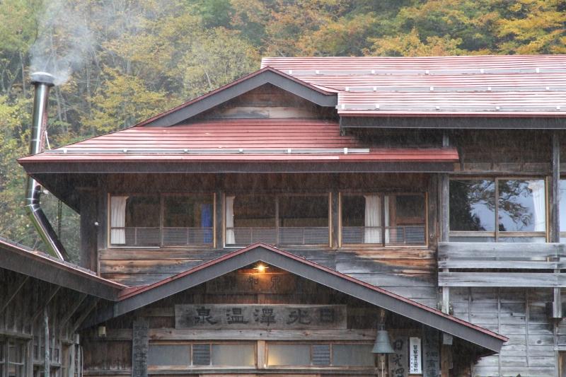 日光澤温泉 初雪 10月24日