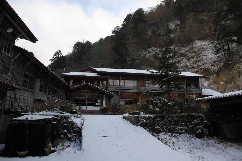 日光澤温泉 雪